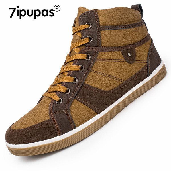 7ipupas Street style YH309 Winter New Men's Boots warm Casual Shoes Men Mixed colors Leather boots Fashion Men snow ankle