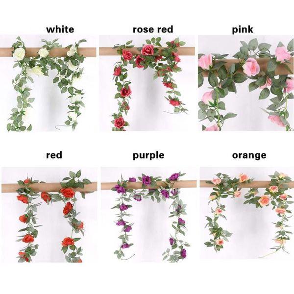 130 cm tira floral wisteria flor artificial videira para o casamento em casa festa kids room diy artesanato flores falsificadas decoração suprimentos 3
