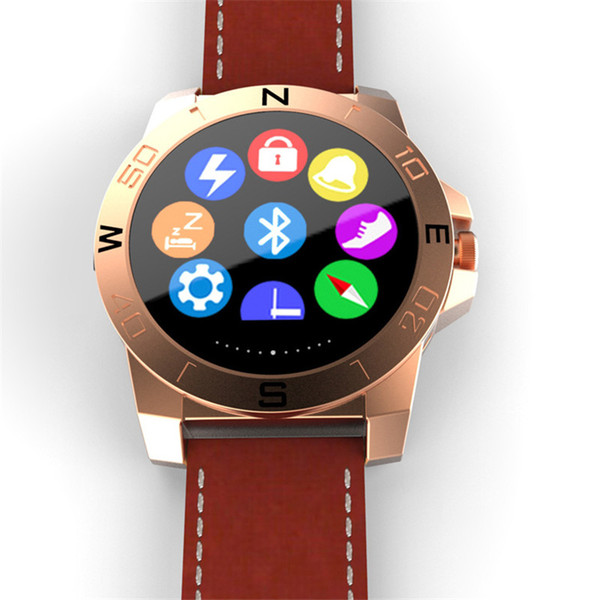 Smart Watch Leather strap N10 Outdoor Sport Smartwatch With Heart Rate Monitor Compass Waterproof Wach For iphone ipad And Android phones