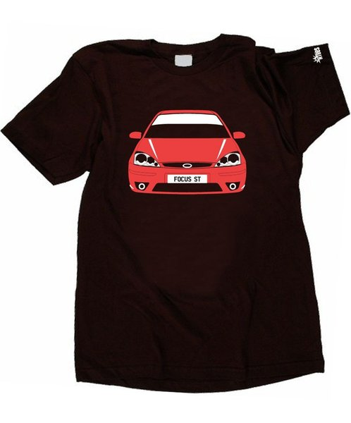 Mens T Shirts Fashion 2018 Ford Focus Mk1 St And Rs Pick Car Colour & Plate S-Xxxl Cotton Loose Short Sleeve Mens Shirts