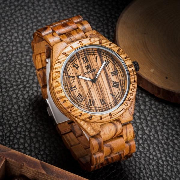 2018 venta caliente hombres `s negro reloj de madera natural para hombre relojes de madera reloj de pulsera hombres buena calidad relojes de pulsera de cuarzo artículo de regalo superior
