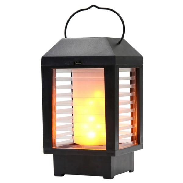 Linterna portátil al aire libre con energía solar LED Luz del jardín Camino Luz de la pared Decoración Lámpara de seguridad 5-7 horas NNA327