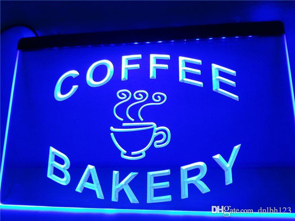 LB497-b Bakery Coffee Shop Cup Display LED Neon Light Sign