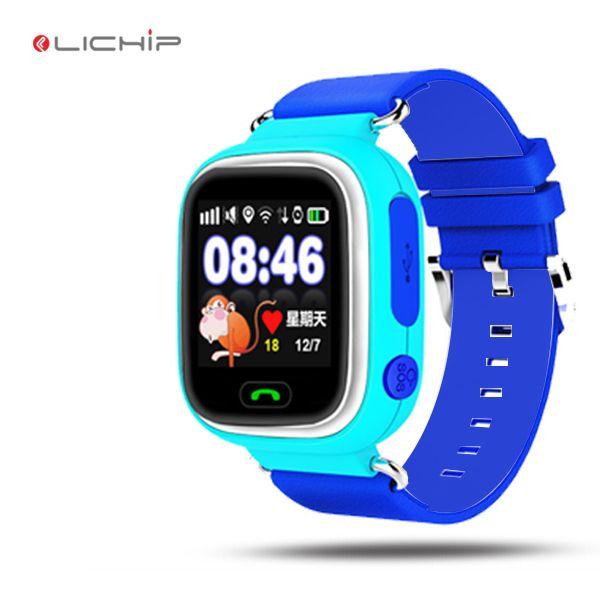 LICHIP kids gps smart watch LQ90 baby baby con wifi sim tarjeta gsm pantalla táctil q90 reloj teléfono para niños