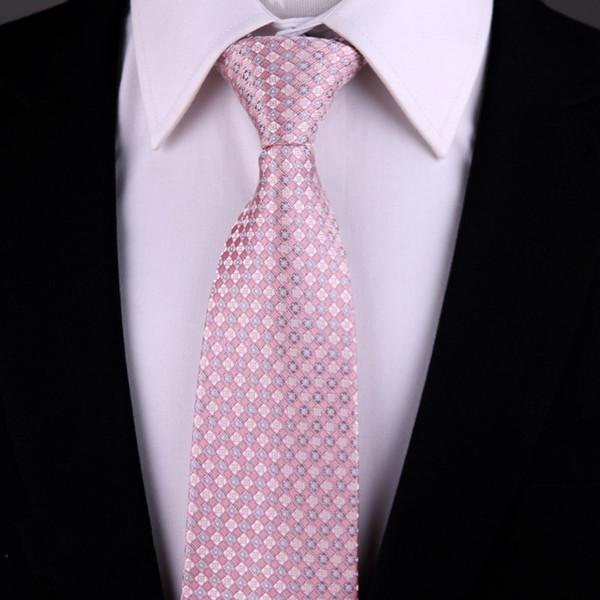 2018 uomini donne marchio di moda 8 cm cravatta di seta rosa cravatte matrimonio cravate floreali cravate homme corbatas cravatta kravat gravata