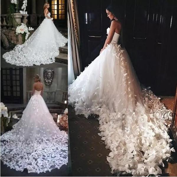2019 Speranza Couture Prenses Uzun Gelinlik Çiçekler Ve Kelebekler ile Prenses Gelinlik Arapça Orta Doğu Kilisesi Bahçe Gelinlik