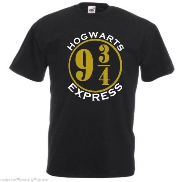 mens harry potter hogwarts express black t-shirt fotl loose fit cotton top L