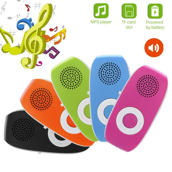 5PCS Clip Built-in Speaker 3.5mm Earphone Interface Mini USB MP3 Player Support 32GB Micro SD TF Card Sport Music Media 10Oct 4
