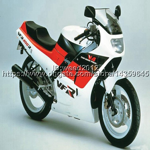 23colors + 5Gifts rot weiß Motorrad Bodykit für HONDA VFR400R NC24 V4 1987 1988 VFR 400RR Verkleidung