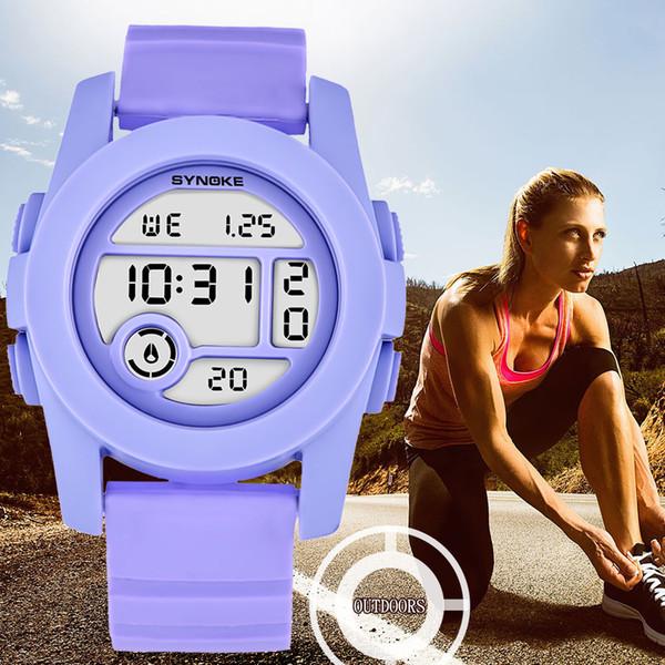 Trompette sport hommes et femmes montre minuterie LED noir montre numérique réveil Chrono 50M étanche horloge cadeau