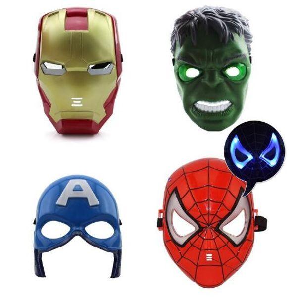 Máscaras Luminosas das Crianças Performing Personagem Homem Máscara de Ferro Vingadores de Brinquedo de Brinquedo Vingadores Máscaras Partido Luminoso CCA10119 60 pcs