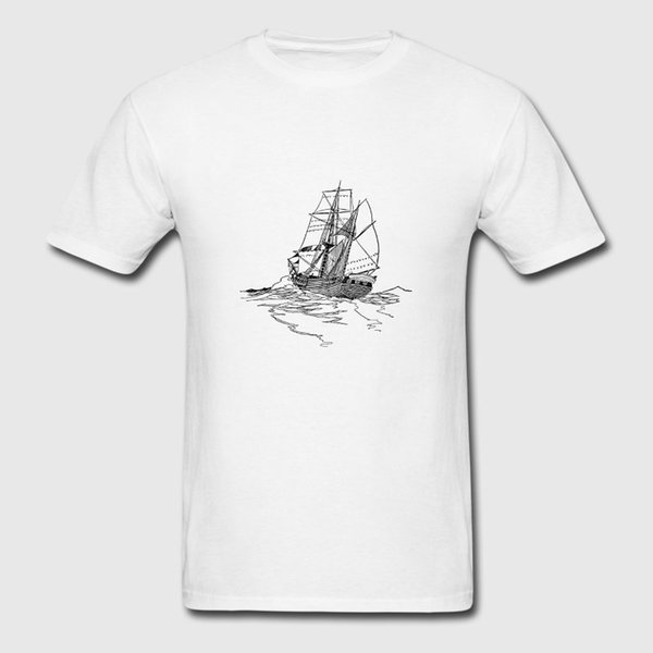 Funny Casual Tshirt For Men Summer Paddle Boat Sail Boat Ruderboot Segelboot T Shirt Fit Tee Top Camiseta Cute Clothing