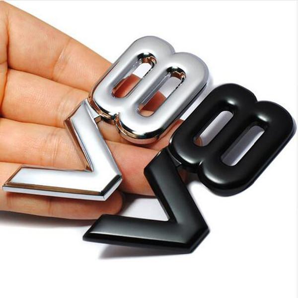 3D V8 двигатель смещения автомобиля наклейка значок V8 эмблема логотип V8 авто Автомобиль наклейка знак стайлинг для автомобиля