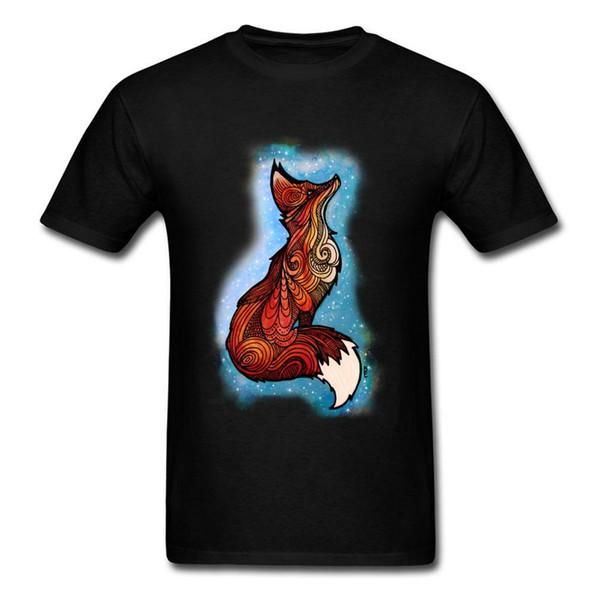 2018 Mais Barato Aptidão Apertado Galaxy Fox Tops T Shirt Do Desenhador dos homens Top T Camisas Ocasionais de Verão Outono Camiseta O Pescoço