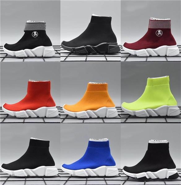 Mode Socken Kinder Luxus Designer Laufschuhe Rutsche bei Pensjonat Relax Hotel Jugend Geschwindigkeit Trainingsschuhe Sport Jungen Mädchen Größe 24-35
