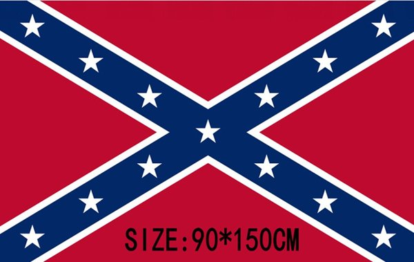 50pcs Confederate flag US BATTLE SOUTHERN FLAGS REBEL CIVIL WAR FLAG Battle Flag for the Army of Northern Virginia H11w