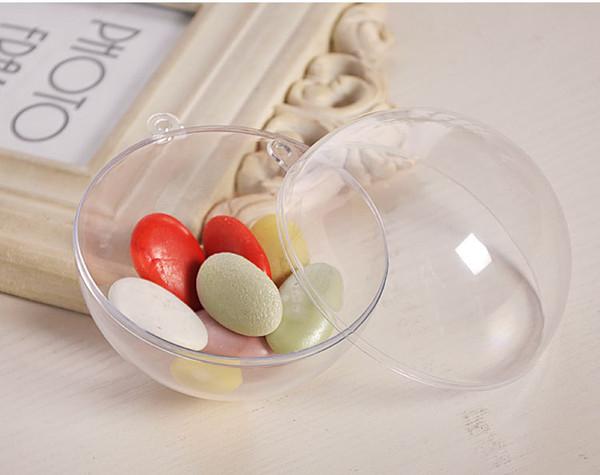 70pcs 7cm Balle Balle En Plastique Transparente pour Boîte à Bonbons Conservation de La Fleur Transparent Creux Sphère Suspendu Décor