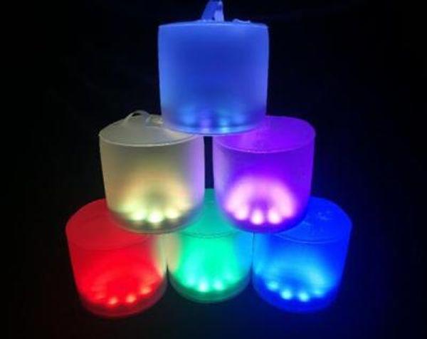 Lumière colorée givrée