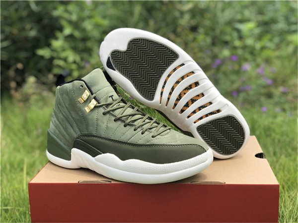 07b386cfa6ae01 Top Quality 2018 12 Graduation Pack CP3 Basketball Shoes For Men Green  Suede 130690-301O