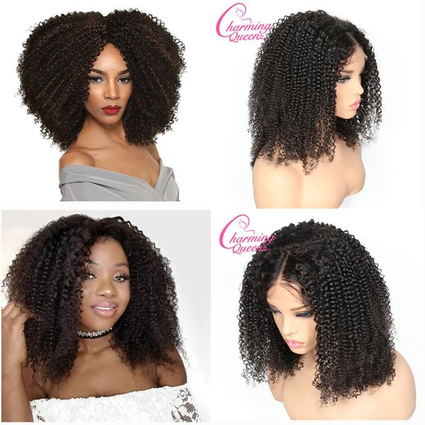 top popular Slove Rose Afro Kinky Curly Glueless Charming Queen Full Lace Human Hair Wigs For Black Women Brazilian Remy Hair Lace Wigs 2019