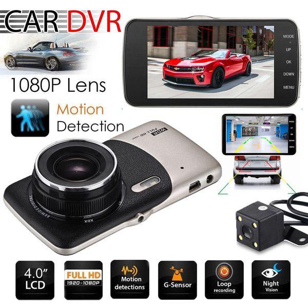 2018 Dual Lens Camera HD Car DVR Dash Cam Grabadora de video G-Sensor Night Vision 3 años de garantía 24H Envío 30 días de devolución de dinero