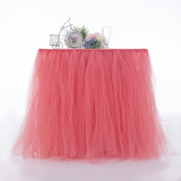 Tutu Tables Skirts For Baby Shower Birthday Party Wedding Decorations Ornament Soft Colorful Table Skirt Popular Small 45mr cc