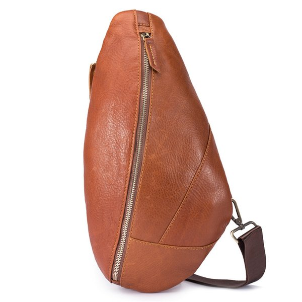 new fashion Genuine Leather handmade fashion men sling bag cross body messenger bags 2 colors outdoor women waist bag pack