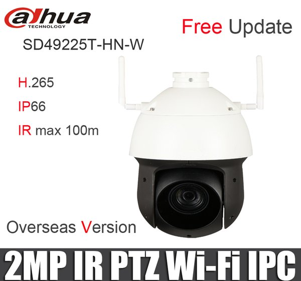 DAHUA SD49225T-HN-W Network Camera H.265/H.264 2MP Starlight IR up to 100m IP66 PTZ Wi-Fi IP Camera sd49225t-hn-w CCTV camre