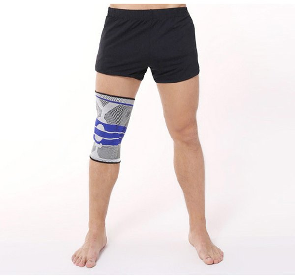 1 Pcs Knee Support Sport Braces Kneepad Elastic Injury Recovery Nylon Silicon Padded Compression Knee Pad Sleeve