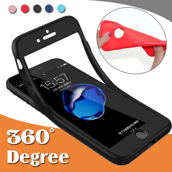 Cobertura de 360 grados Cobertura de TPU suave de cuerpo completo híbrido antichoque para iPhone XS Max XR X 8 7 6 6S Plus 5 Samsung Galaxy S10 E S9 S8 Nota 9