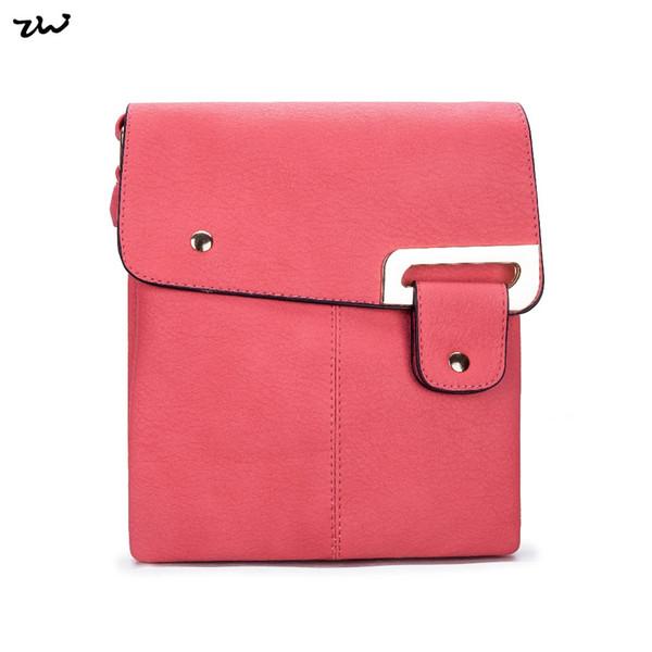 2017 Borse a tracolla moda ZIWI per le donne di colore solido cellulare Pocket Zipper Pocket Lady borse da DesignerVK5021-1