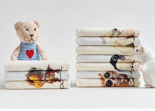New Pet Children's Hand Towel, 1 Piece,24cm*50cm,Toddler Cotton Snow Doll Towel, Cartoon Small Towel