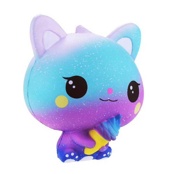 New Arrival Squishies Slow rising Ice cream Cat Cell phone straps Soft scented Slow rebound charms Ice cream cat squishy DHL Free Shipping