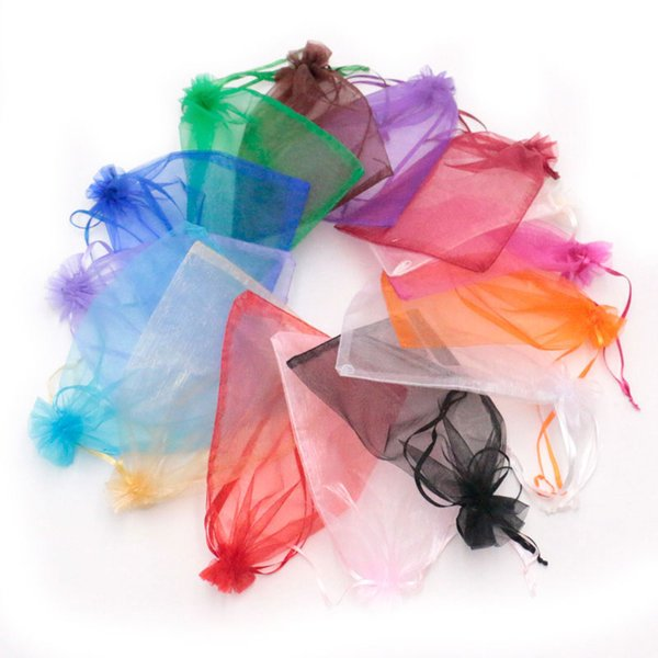 Christmas Organza Bag 15x20cm Display Jewelry Small gift Bead Storage Bracelet Packaging Gift Bag Ring Display Pouch 300Pcs