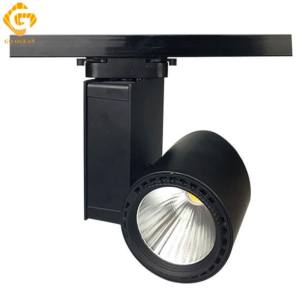 LED Track Light 30W Black White Spot Rail Lights Vintage Track Lighting Gallery Showroom LED Spotlight Fixtures