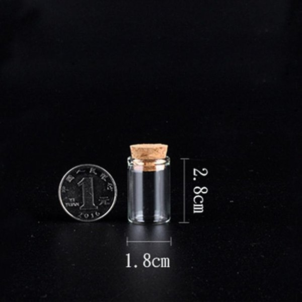 New 4ML Glass Mini Bottle Box Powder Nose Bottle Pill Box Container Wax Herb Vape Coils Storage Store Packing Wood Plug Multiple Uses