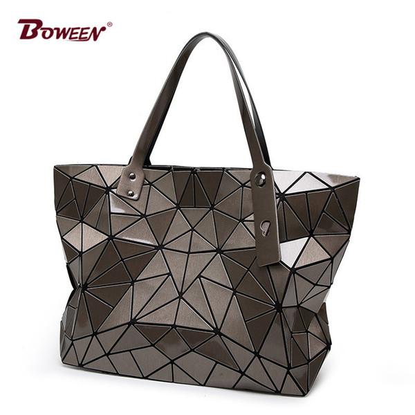 2018 Fashion tote laser Bag Women hand Bags summer Geometric Handbag ladies Famous Brands Shoulder Bag big Y18102904