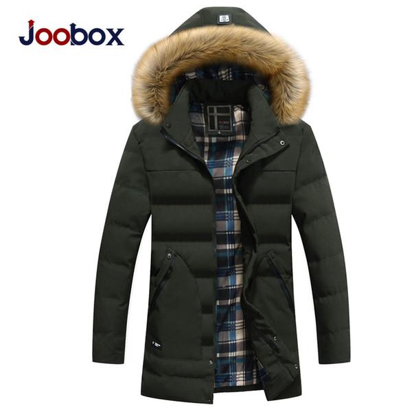 2018 New Parkas Men Winter Parkas Thick Warm Windproof Hat Detachable Zipper for Male Plus Size L-XXXL Casual Jackets Man