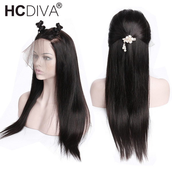 Pre Plucked Full Lace Front Human Hair Wigs With Baby Hair 10-26 Malaysian Remy Straight Lace Frontal Human Hair Wigs For Black Women 10-26