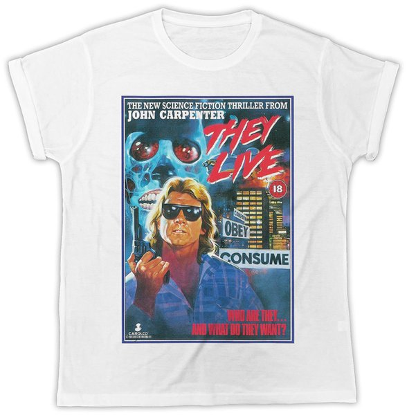 COOL THEY LIVE MOVIE POSTER IDEAL GIFT PRESENT UNISEX RETRO COOL TSHIRT