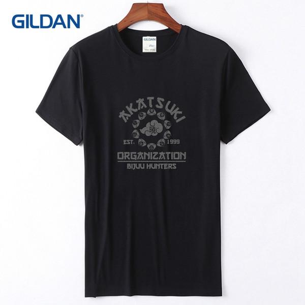 Cool T Shirts Online 2018 Akatsuki Organisation Men Tees Sale No Fade Printing Quality Mens Red T-Shirt