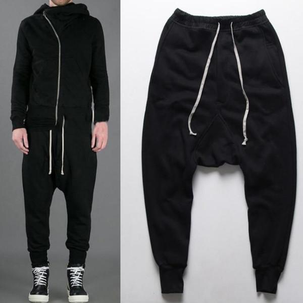 Casual Men Pants 2018 Harem Pants Mens Autumn Winter Joggers Men Hip Hop Drop Crotch Jogger Clothing Male Trousers 50
