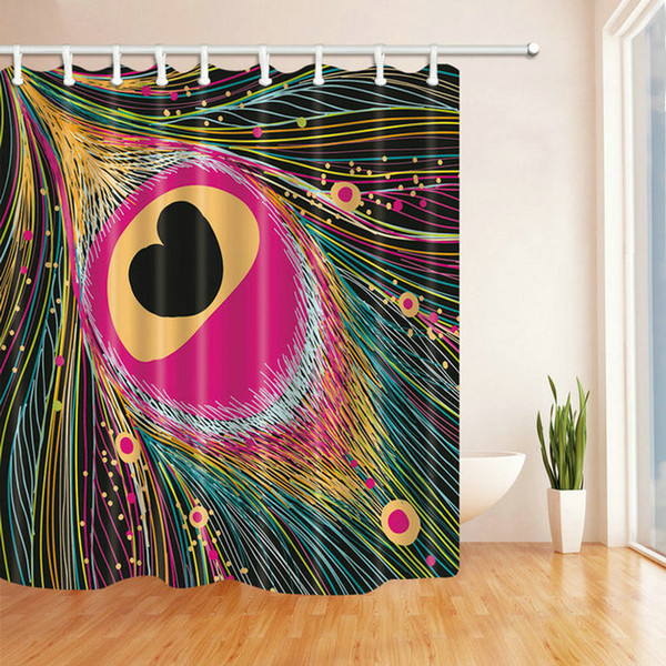 Color Lines Abstract Pattern 69 X 70 Inch Polyester Fabric Shower Curtain Waterproof Mildew Bathroom Supplies Blackout Hanging Curtains