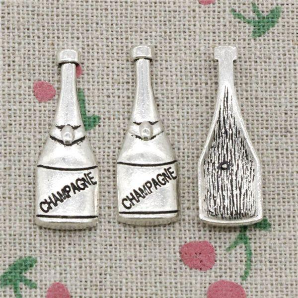 76pcs Charms champagne bottle 30*10mm Tibetan Silver Vintage Pendants For Jewelry Making DIY Bracelet Necklace