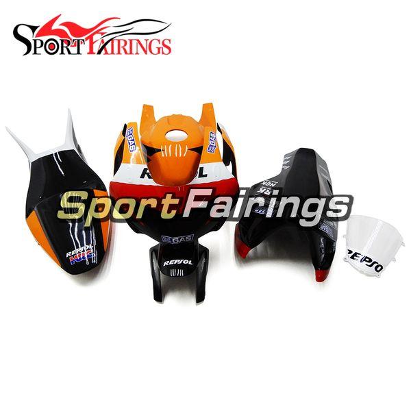05 06 F5 Black Orange Red Fiberglass Racing Fairing Kit For Honda CBR600RR F5 Year 2005 2006 Injection ABS Plastics Motorcycles New Arrive
