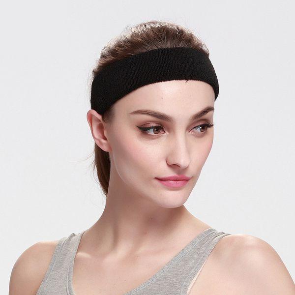 100% Cotton Thick Tower Sports Headband Tennis Badminton Basketball Sweatband Head Sweat Band Basketball Tennis Yoga Headbands
