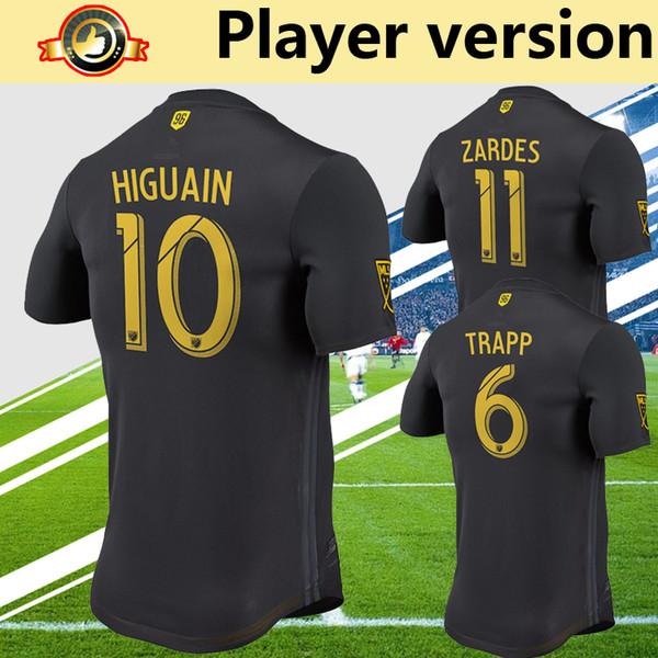 jugador versión MLS 2018 columbus camiseta de fútbol camiseta de fútbol negro ZARDES HIGUAIN JONATHAN TRAPP uniformes de fútbol