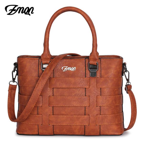 ZMQN Women Bags Handbags Women Famous Brands PU Leather Handbag Ladies Hand Bags For Women 2018 Vintage Shoulder Sac Femme C821 Y18102004