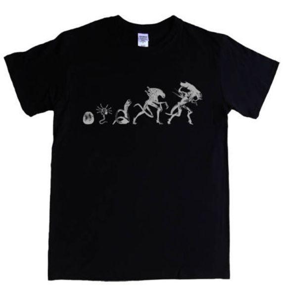 ALIEN T-shirt alien types stages S - 5XL prometheus face hugger queen giger tee T shirt Men Black Short Sleeve Cotton Hip