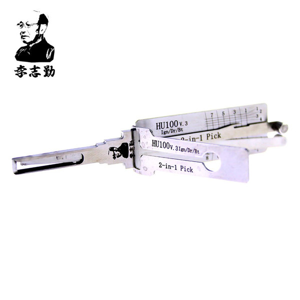 top popular Lishi HU100 2 in 1 lock pick and decoder for Opel,Buick,Cadillac,chevrolet car 2021